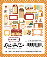 Carta Bella Paper Autumn Collection Ephemera Frames and Tags 2016