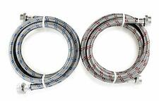 Washing Machine Stainless Steel 6ft Washer Water Supply Hoses - 2 Pack Hot/Cold