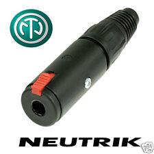 "Neutrik NJ3FC6-BAG TRS Female Socket. 6.35mm 1/4"" Stereo / balanced connector"