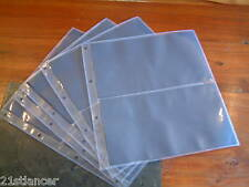 10 X STAMP ALBUM FIRST DAY COVER STORAGE LEAVES DOUBLE PAGE PLASTIC SLEEVES
