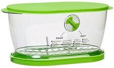 Fruits Vegetable Lettuce Keeper Saver Bowl Container Colander Oblong Set NEW
