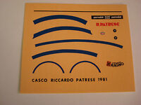 DECALS KIT 1/12 RICCARDO PATRESE F1 ARROWS HELMET  FDS AUTOMODELLI