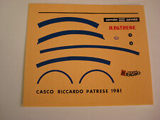 DECALS KIT 1/12 RICCARDO PATRESE F1 ARROWS HELMET DECALS