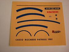 DECALS KIT 1/12 RICCARDO PATRESE F1 ARROWS HELMET  FDS AUTOMODELLI
