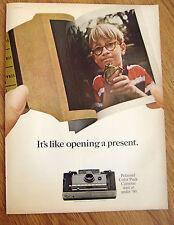 1966 Polaroid Color Pack Camera Ad Model 100