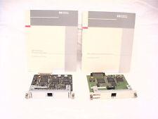 2 USED HP JETDIRECT 10BASET CARDS J2550-60001 J2550-60013 PLUS MANUALS