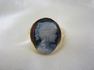 Ring mit Achat Gemme aus Gold 585