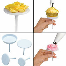 4PCS Cake Cupcake Pastry Stand Icing Cream Flower Nails Set Sugarcraft Tools New