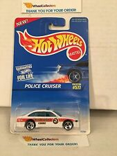 Police Cruuiser #577 * WHITE * 1999 Hot Wheels * Y10