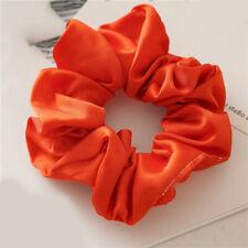 Soft Satin Silk Solid Color Hair Tie Elastic Scrunchie Ponytail Holder Hair Rope