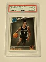 2018 Panini Donruss #174 Lonnie Walker IV Spurs Rated Rookie Card RC PSA 10