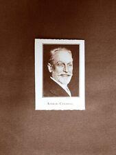 Stampa del 1923 Attilio Centelli Collaboratore dell'Illustrazione Italiana
