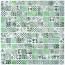 Mosaik RETRO VINTAGE MUSTER  Recycling GLAS grün ECO grün WB145-P-60  |1Matte