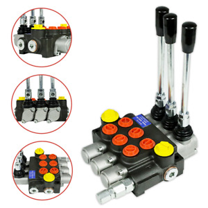 Hydraulic Directional Control Valve Tractor Loader w/ Joystick, 3 Spool, 13GPM
