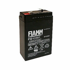 FIAMM FG10381 Lead Acid Battery Rechargeable 6v 3 8ah