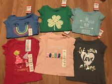 Brand New Cat and Jack Baby 12 Month Old Short Sleeve Tee Shirts Lot (6) Nwt