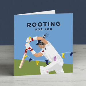 Joe Root England Cricket Good Luck/Birthday Card