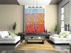 "Original Art Painting oil Canvas Bush Scrub Abstract Landscape Australia 59 x39"""