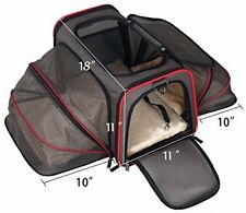 Pet Carrier Dog Cat Travel Bag Comfort Tote Airline Approve Portable Kennel Cage