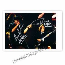 ACDC signiert Angus Young & Brian Johnson - Autogrammfotokarte 