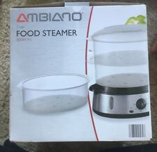 Ambiano Food Steamer 800w 9litre 3 Basket BRAND NEW UNUSED