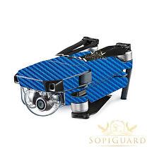 SopiGuard Laguna Blue Carbon Skin Wrap Battery Controller for DJI Mavic Pro