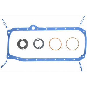 Fel Pro Engine Oil Pan Gasket Set OS34500R; PermaDry Molded Rubber for 86-99 SBC
