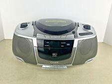 Coby CX-CD250 Portable CD / Radio / Stereo Cassette Player/Recorder Boom Box