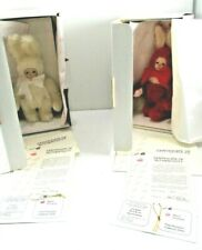 New ListingLot of 2Marie Osmond Porcelain Bit O' Bunny Series Snowball & Cranbunny Numbered