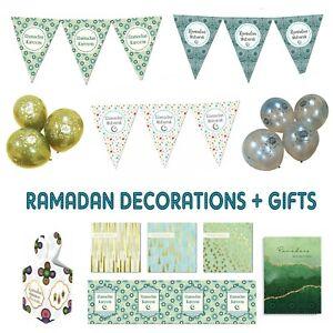 Ramadan '20 Ramadhan Mubarak Party Decorations Banner Balloons Bunting Cards IM