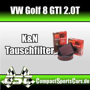 VW Golf 8/VIII GTI 2.0 | K&N Sportluftfilter/Tauschfilter