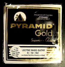 NEW Pyramid Gold Flatwound Bass Strings SHORT SCALE SET Hofner Beatle Bass, etc.