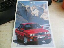 1988 brochure BMW 325iX E30, German text, very good