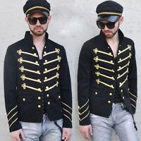 Steampunk Medieval Renaissance Men Long Sleeve Jacket Blazer Coat Retro Costume
