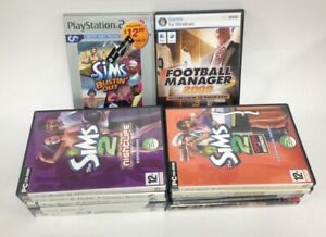 Bundle Of 11 PC/CD/DVD Games Plus One PS2 Sims Game ~989