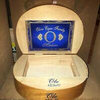Oliva Cigar Family Ole Maduro Empty Wooden Cigar Box 9.5x7x3