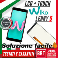 "DISPLAY LCD+TOUCH SCREEN PER WIKO LENNY 5 _ 5,7"" SCHERMO VETRO ASSEMBLATO NERO!!"