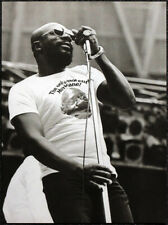 ISAAC HAYES POSTER PAGE . RUBIN HURRICANE CARTER BENEFIT CONCERT . S102