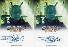 Star Trek Discovery S1 Le autograph card of Riley Gilchrist as Mirror Shukar Fb