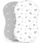 Kids 'N Such Fitted Bassinet Sheets for Hourglass, Oval & Rectangular Bassinet M