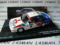 RIT81G voiture 1/43 IXO Altaya ITA : MITSUBISHI Galant VR-4 RAC 1989 Airikkala