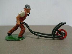 Britains England Farm Plough Disker Lead Toy Figurine