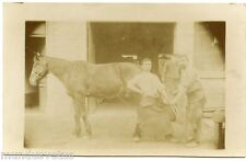 CARTE PHOTO. MéTIER . MARéCHAL FERRANT. CHEVAL. HORSE. WORK. FARRIER.