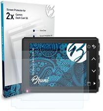Bruni 2x Folie für Garmin Dash Cam 56 Schutzfolie Displayschutzfolie