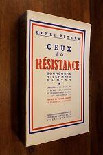 1947 WW2 Ceux de la Résistance Guerre Morvan Nivernais Bourgogne Auxois Maquis