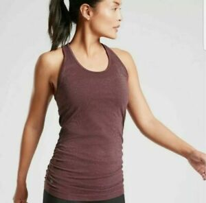 NWT  Athleta Speedlight Glow Tank Antique Burgundy SIZE XS #510333 $59