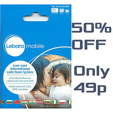 Lebara Mobile SIM Card PAY AS YOU GO SEALED 4G Data Trio Sim nano mini PAYG