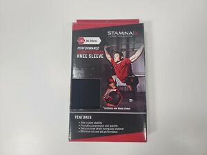STAMINA Compression Knee Sleeve L/XL 36-39cm Fitness Basketball Running FREE S/H