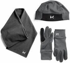 Mission Women's RadiantActive Beanie/Scarf/Glove Set, Carbon, Small/Medium