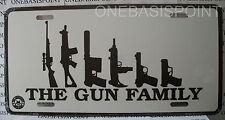The Gun Family 2nd Amendment Rights License Plate Aluminum Vanity Car Tag Metal
